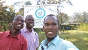 Selfie of exchange students