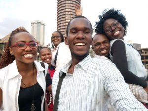 Another selfie of exchange students