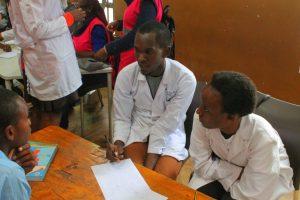 GEMx student at medical camp