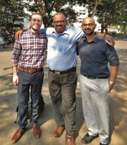 Myron with Justin and Dr. Ciraj