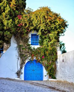 A blue door in Tunisia