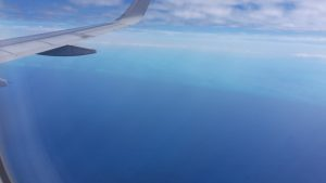 view from plane during flight to the US