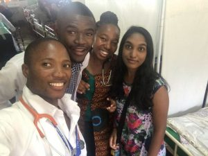 selfie of four african medical students