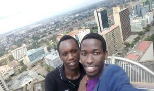 At KICC, Nairobi town view.