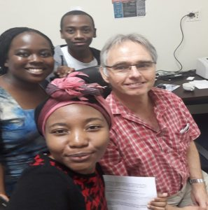 A selfie taken after our GEMx end of elective exercise and discussion with us and Proffessor Ross( one of the consultants at the hospital. We enjoyed our interactions with him during ward rounds and our various tutorial sessions.