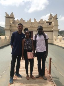Day out at Emperor Yohannes' castle with Kidus(L) myself(C) and Henry(R)