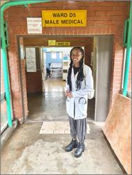 Punam Ajay Raval and Grace Vugutsa Magada,at the Male Medical Wards