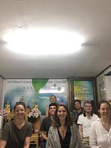 At the Wat Mahathat meditation center in Bangkok